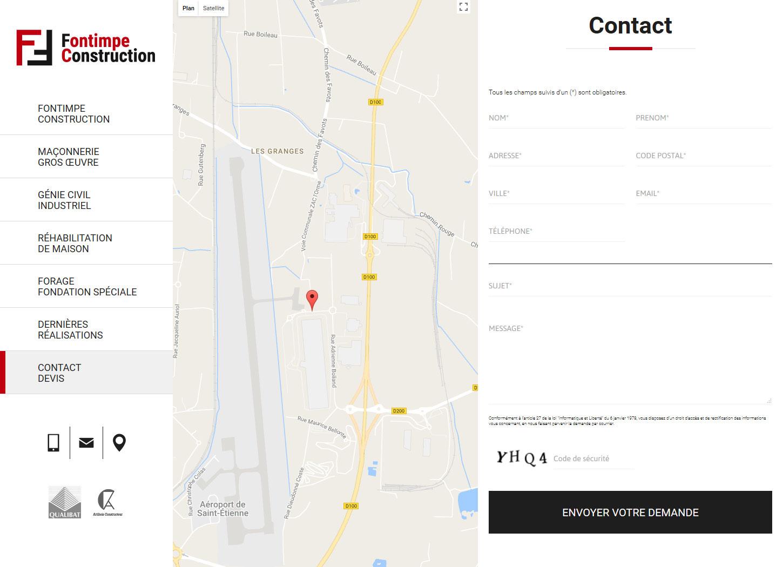 Contact et carte